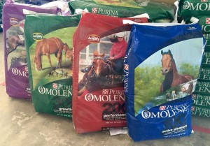 Purina omolene horse feeds
